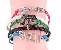 MBOX Vintage Design Infinity Fashion Rope Leather Bracelet