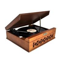 Pyle Vintage Style Phonograph/Turntable With USB-To-PC