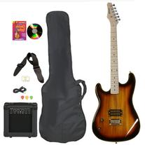 Vintage Sunburst Full Size Electric Guitar & Practice Amp