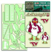 Virginia Tech Hokies Lil' Buddy Glow In The Dark Decal Kit