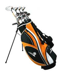 Palm Springs Golf VISA Mens GRAPHITE & STEEL Hybrid Club Set & Stand Bag