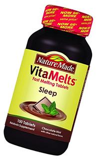 Nature Made Vitamelts Sleep Tablets, Chocolate Mint, 100