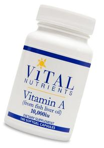 Vital Nutrients Vitamin A  -- 10000 IU - 180 Softgel