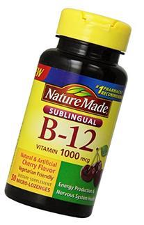 Nature Made Vitamin B-12, 1000 mcg Sublingual, 50 Count