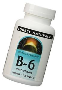 Vitamin B-6 500mg Timed Release Source Naturals, Inc. 100