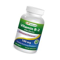 Best Naturals Vitamin B2 Riboflavin 100 mg 180 Tablets