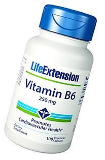 Life Extension Vitamin B6 -- 250 mg - 100 Vegetarian