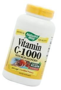 Vitamin C 1000Bioflavonoids Nature's Way 250 VCaps