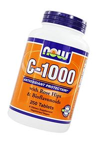 NOW Foods Vitamin C-1000  W/ Rose Hips, 250 Tablets / 1000mg