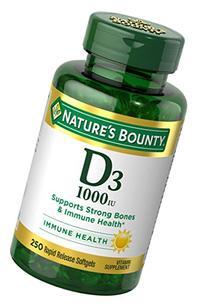 Nature's Bounty Vitamin D-1000 IU, Rapid Release Softgels