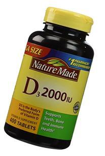 Nature Made Vitamin D3 2000 IU Tablets, 400 Ct