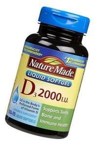 Nature Made Nat Made Vit D-3 2000Iu 250 Sg