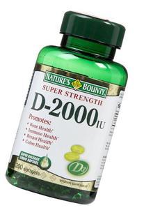 Nature's Bounty Vitamin D3 2000 IU, 240 Softgels