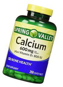 Spring Valley Natural Vitamin D Bone Health Calcium- 600mg
