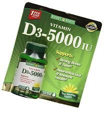 Nature's Bounty Vitamin D3 5000 IU, 300 Softgels