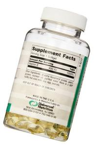 Universal Nutrition Naturals Vitamin-E Gels, 100-Count