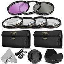 52MM Vivitar Professional UV CPL FLD Lens Filter and Close-