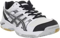 ASICS Women's 1140 V Volleyball Shoe,White/Black/Silver,7.5