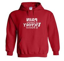 Rugby Hooded Sweatshirt: Pain is Temporary Victory is
