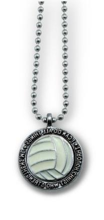 """Volleyball Necklace """"I Can Do All Things Through Christ"""