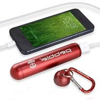 Veho VPP-200-SFC-R 3000mAh Pebble Capsule Emergency Portable
