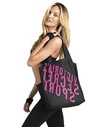Victoria's Secret VSX Sport Black Tote Travel Gym Yoga Nylon