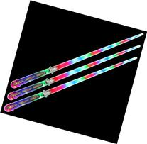 Set of 3 VT Clear Star Flashing LED Light Up Party Favor Toy