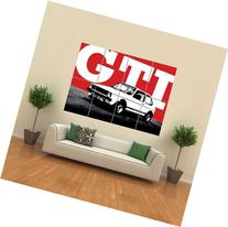 VW MK GOLF VOLKSWAGEN GTI CAR GIANT WALL ART PRINT PICTURE