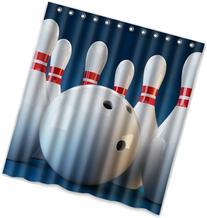 """66"""" x 72"""" Bowling Pattern Theme Print 100% Polyester"""