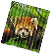 "66"" x 72"" red panda Theme Print 100% Polyester Bathroom"