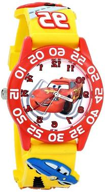 "Disney Kids' W001509 ""Time Teacher"" 3D Cars Watch with"