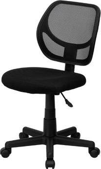 Flash Furniture WA-3074-BK-GG Mid-Back Black Mesh Task and