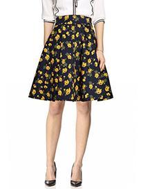 Allegra K Women High Waist Floral Above Knee Vintage Skirts