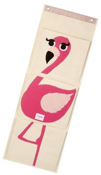 3 Sprouts Wall Organizer, Flamingo
