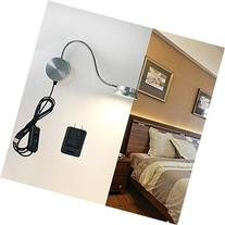 LED Wall Lamp WAYCOM 6W Gooseneck Reading Light - USB Night