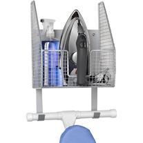 Spectrum Wall Mounted Single Basket w/Ironing Board Holder