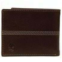 Timberland Men's Wallet Genuine Leather Pebble Grain Stitch
