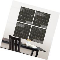 WallPops Black Chalk 4pc. Calendar Wall Decal