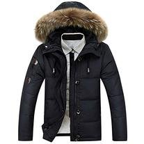 Win8Fong Men's Warm Duck Down Fur Collar Thick Winter Coat