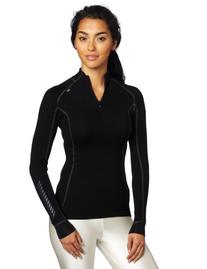 Helly Hansen Women's Warm Freeze 1/2 Zip Shirt, Black/Black