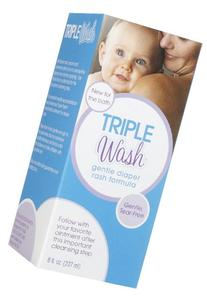 Triple Paste Triple Wash Gentle Diaper Rash Formula, Tear-