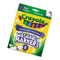 Crayola Washable Markers - Broad Line - 8 Bold Colors -