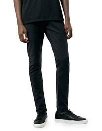 Topman Washed Black Stretch Slim Jeans-BLACK-30 Short