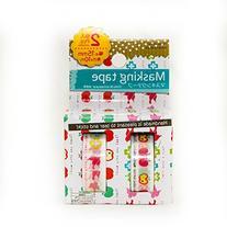 Washi Paper Masking Tape Apples, Birds, Flowers