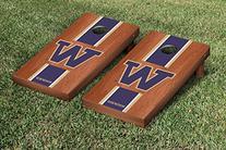 Washington Huskies Cornhole Game Set Rosewood Stained Stripe