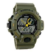 Fanmis Men's Sports Analog Digital LED Watch Military