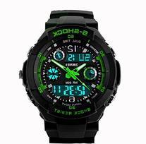 Fanmis Unisex Sport Watch Multifunction Green Led Light