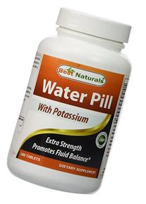Best Naturals Water Pill with potassium 180 Tablets - water