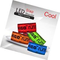Higo Water Resistant Heat Sealed LED Light up Slap Armband