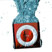 Red Underwater Audio Waterproof iPod Shuffle